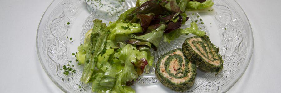 Ziegenfrischkäseterrine mit Salat