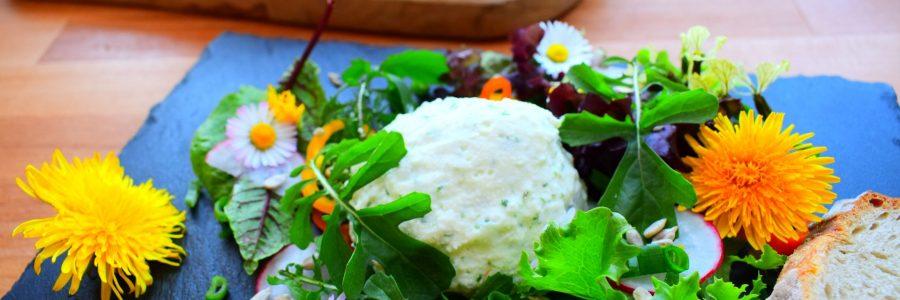 Kräuter-Mousse mit Ziegenjoghurt